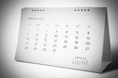 Ημερολόγιο του Ιανουαρίου του 2018 Στοκ Φωτογραφίες