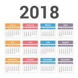 ημερολόγιο του 2018 Στοκ φωτογραφία με δικαίωμα ελεύθερης χρήσης