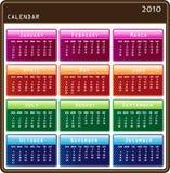ημερολόγιο του 2010 μοντέρν&omic Στοκ φωτογραφία με δικαίωμα ελεύθερης χρήσης