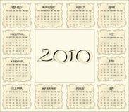 ημερολόγιο του 2010 διανυσματική απεικόνιση