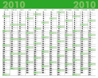 ημερολόγιο του 2010 Στοκ φωτογραφία με δικαίωμα ελεύθερης χρήσης