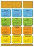 ημερολόγιο του 2010 Στοκ Φωτογραφία