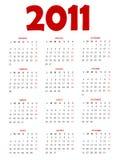 ημερολόγιο του 2011 Στοκ Φωτογραφία