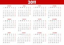 ημερολόγιο του 2011 Στοκ εικόνα με δικαίωμα ελεύθερης χρήσης
