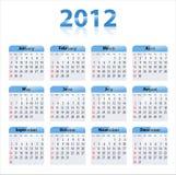 ημερολόγιο του 2012 Στοκ Φωτογραφίες