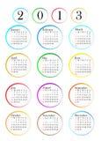 ημερολόγιο του 2013 Στοκ Εικόνα