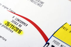 Ημερομηνία λήξης ή καλύτερα πριν από την ημερομηνία Στοκ Εικόνες