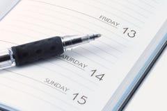 ημερομηνία βιβλίων στοκ εικόνα
