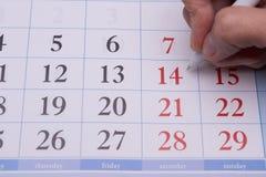 Ημερομηνία με μια μάνδρα Στοκ Εικόνες