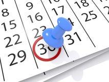 Ημερομηνία στο ημερολόγιο απεικόνιση αποθεμάτων