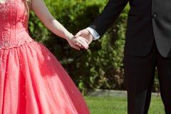 ημερομηνία prom στοκ φωτογραφία