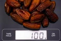 Ημερομηνίες στην ψηφιακή κλίμακα Στοκ φωτογραφία με δικαίωμα ελεύθερης χρήσης