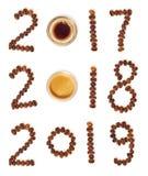 Ημερομηνίες φιαγμένες από φασόλια καφέ Στοκ φωτογραφία με δικαίωμα ελεύθερης χρήσης