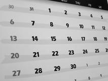 ημερομηνίες στοκ φωτογραφία