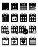 Ημερολογιακά εικονίδια καθορισμένα απεικόνιση αποθεμάτων