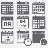 Ημερολογιακά εικονίδια Στοκ Εικόνες