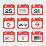 Ημερολογιακά εικονίδια Στοκ εικόνα με δικαίωμα ελεύθερης χρήσης