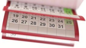 Ημερολογιακές σελίδες turneng σε σε αργή κίνηση διανυσματική απεικόνιση