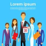 Ημερολογιακή ημερομηνία ομάδας επιχειρηματιών τελευταία ημέρα μήνας Στοκ φωτογραφίες με δικαίωμα ελεύθερης χρήσης