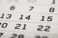 Ημερολογιακή σελίδα Στοκ εικόνες με δικαίωμα ελεύθερης χρήσης