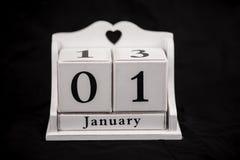 Ημερολογιακοί κύβοι Ιανουάριος Στοκ εικόνες με δικαίωμα ελεύθερης χρήσης