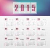 Ημερολογιακό 2015 έτος με την κλίση Στοκ εικόνες με δικαίωμα ελεύθερης χρήσης