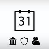 Ημερολογιακό εικονίδιο, διανυσματική απεικόνιση Επίπεδο ύφος σχεδίου Στοκ εικόνες με δικαίωμα ελεύθερης χρήσης