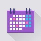 Ημερολογιακό επίπεδο εικονίδιο ελεύθερη απεικόνιση δικαιώματος