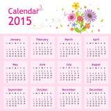Ημερολογιακό 2015 διάνυσμα καλής χρονιάς ελεύθερη απεικόνιση δικαιώματος