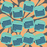 Ημερολογιακό 2016 διανυσματικό σχέδιο Στοκ εικόνα με δικαίωμα ελεύθερης χρήσης