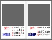 Ημερολογιακό πλέγμα Στοκ Φωτογραφία