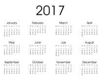 2017 ημερολογιακό σχέδιο Στοκ Φωτογραφία