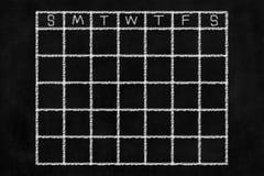 Ημερολογιακό υπόβαθρο πινάκων κιμωλίας Στοκ φωτογραφία με δικαίωμα ελεύθερης χρήσης
