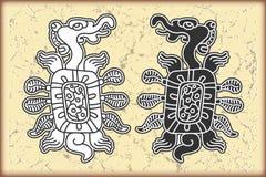 ημερολογιακό maya σύμβολα ύφους διακοσμήσεων Στοκ φωτογραφίες με δικαίωμα ελεύθερης χρήσης