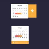 Ημερολογιακό UI στοιχείο Στοκ εικόνες με δικαίωμα ελεύθερης χρήσης