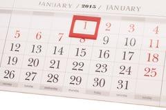 ημερολόγιο έτους του 2015 Ημερολόγιο Ιανουαρίου Στοκ Εικόνα