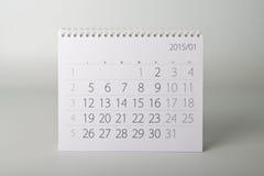 ημερολόγιο έτους του 2015 Ιανουάριος Στοκ Φωτογραφία
