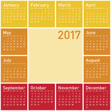 Ημερολόγιο για το έτος 2017 Στοκ Φωτογραφίες