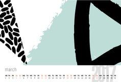 Ημερολόγιο για το διανυσματικό πρότυπο του 2017 Στοκ Εικόνα