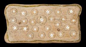 Ημερολόγιο εμφάνισης χειροποίητο από την παλαιά ξυλεία Στοκ εικόνα με δικαίωμα ελεύθερης χρήσης