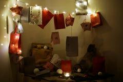 Ημερολόγιο εμφάνισης Χριστουγέννων Στοκ φωτογραφία με δικαίωμα ελεύθερης χρήσης