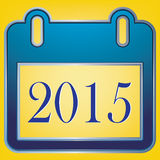 2015 ημερολόγιο κειμένων στο κίτρινο υπόβαθρο Στοκ Φωτογραφίες