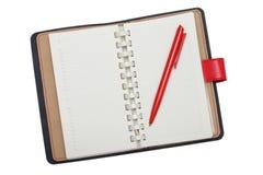 Ημερολόγιο με την κόκκινη μάνδρα Στοκ εικόνες με δικαίωμα ελεύθερης χρήσης