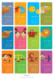 Ημερολόγιο με zodiac τα σημάδια Στοκ Φωτογραφίες