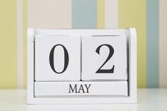 Ημερολόγιο μορφής κύβων για την 2α Μαΐου Στοκ εικόνα με δικαίωμα ελεύθερης χρήσης
