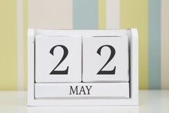 Ημερολόγιο μορφής κύβων για την 22α Μαΐου Στοκ Φωτογραφία