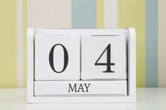 Ημερολόγιο μορφής κύβων για την 4η Μαΐου Στοκ Εικόνα