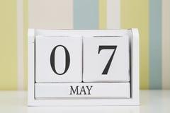 Ημερολόγιο μορφής κύβων για την 7η Μαΐου Στοκ Εικόνα