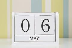Ημερολόγιο μορφής κύβων για την 6η Μαΐου Στοκ Φωτογραφία