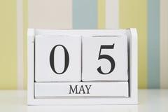 Ημερολόγιο μορφής κύβων για την 5η Μαΐου Στοκ εικόνα με δικαίωμα ελεύθερης χρήσης